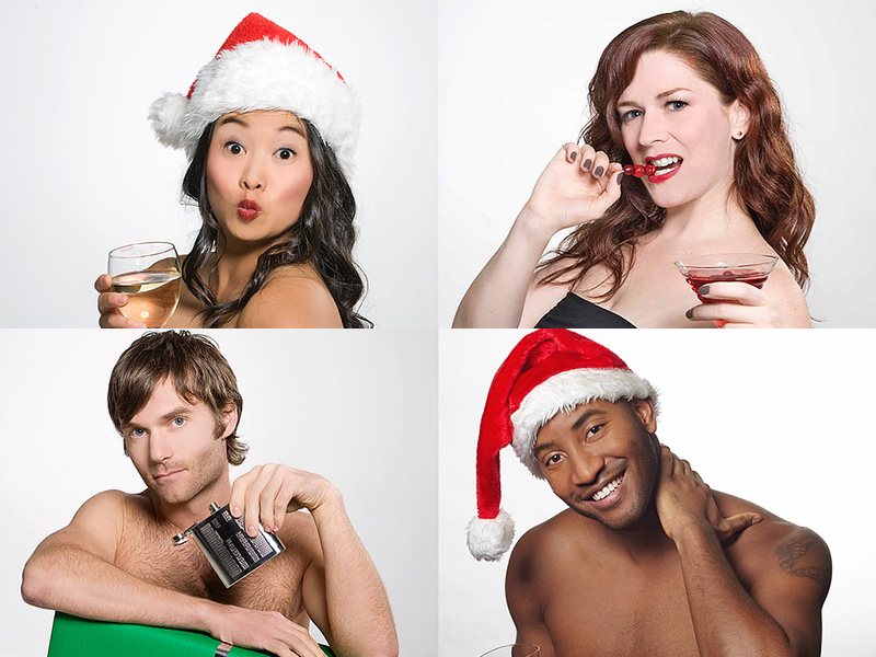 A collage of the cast of Naughty... but Nice! (Seven's On Screen)