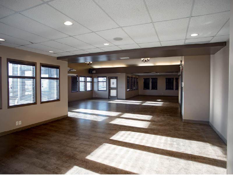 Image of the banquet room at New Brighton Resident's Association