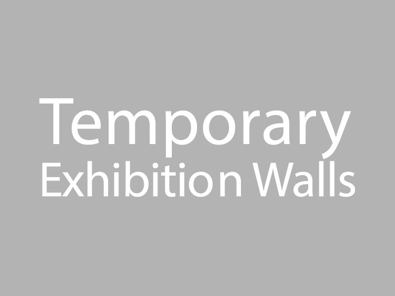 Temporary Exhibition Walls graphic