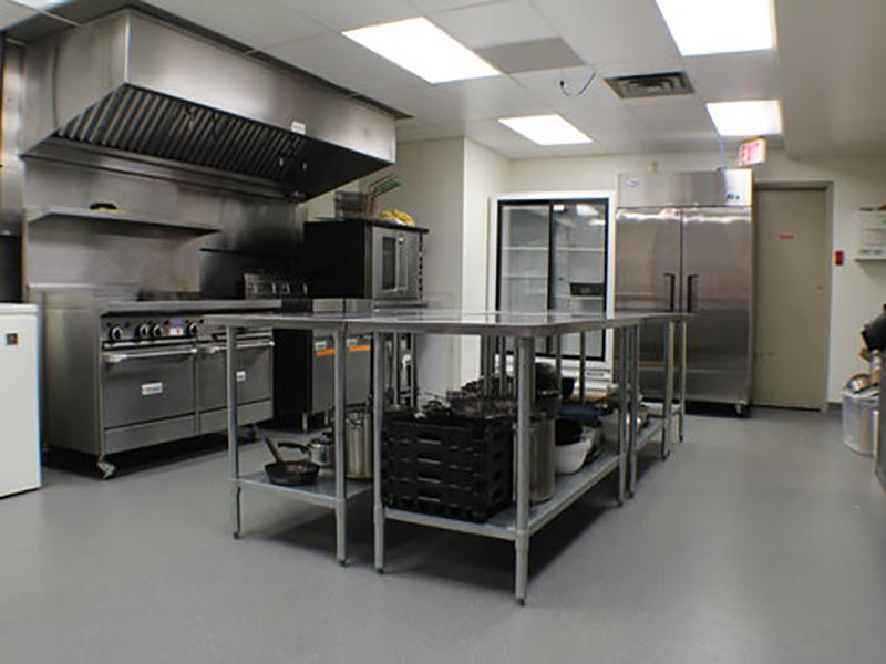 Image of the Bowness Community Association's full commercial kitchen