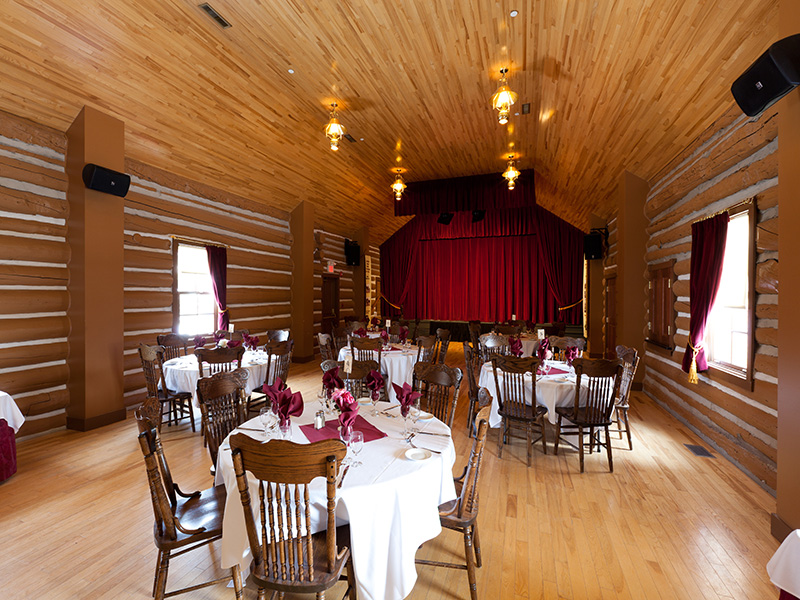 An image of the inside of Canmore Opera House at Heritage Park Historical Village