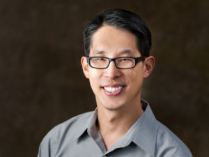 A promo photo of Gene Luen Yang