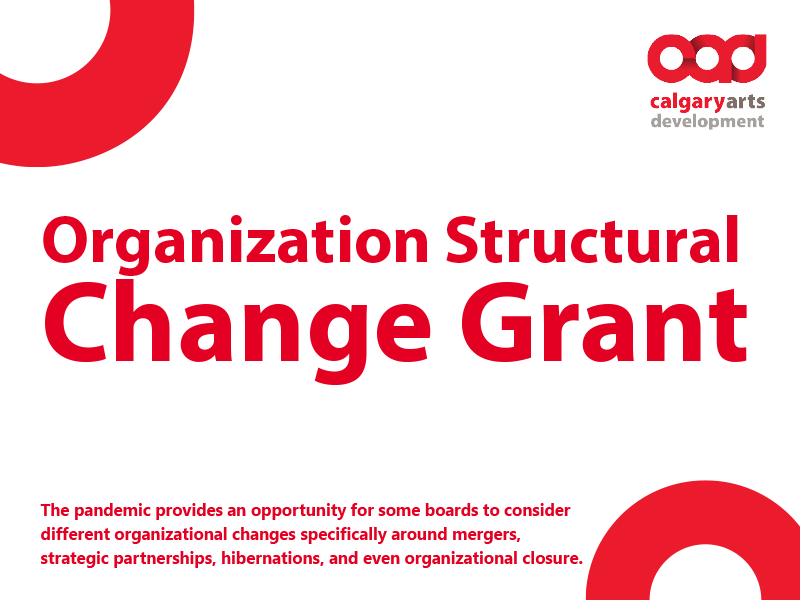 Organization Structural Change Grant graphic