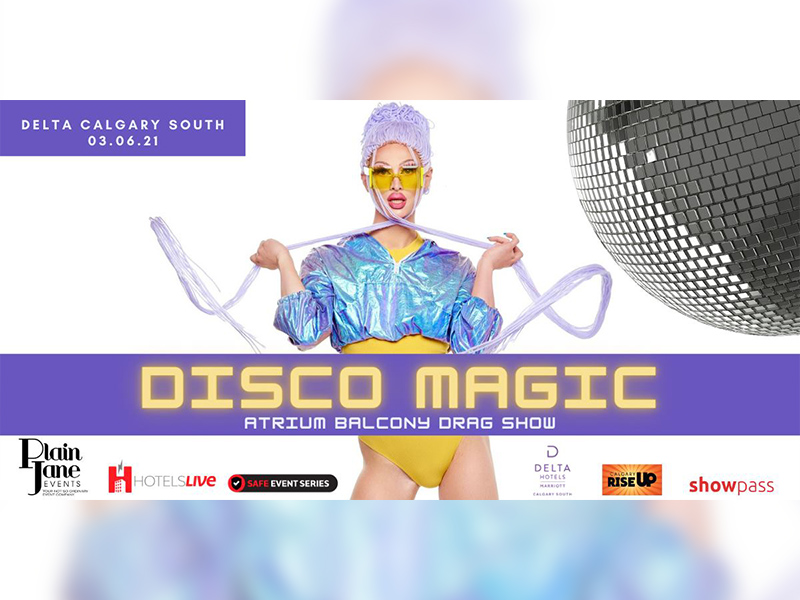 A graphic for the Disco Magic Drag Show