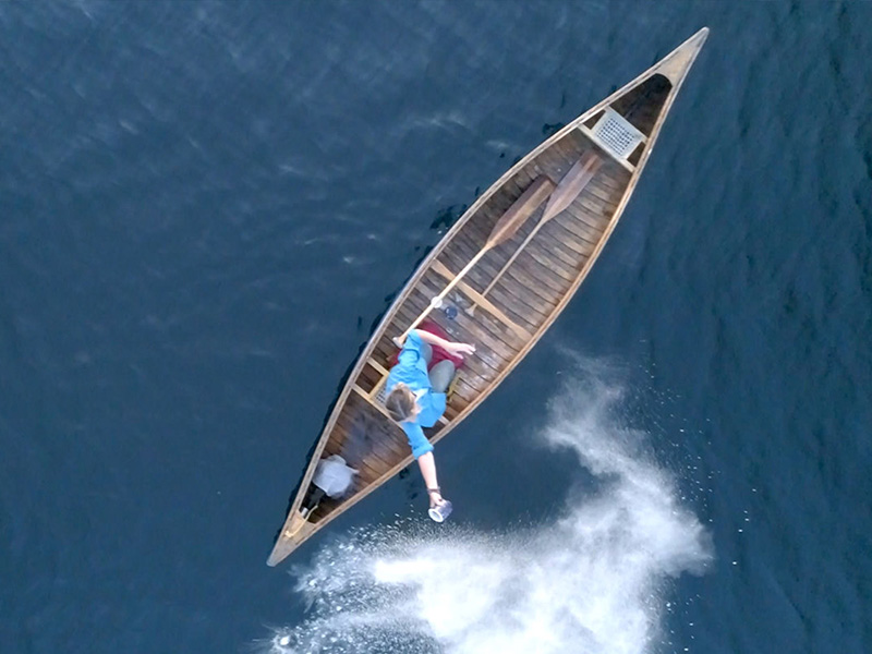 A still of a boat from above from The Magnitude of All Things
