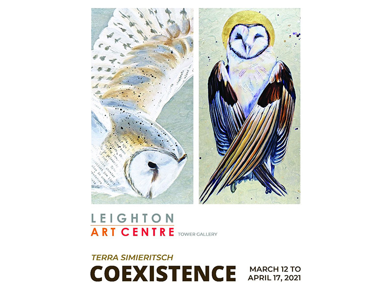 A poster for Coexistence at the Leighton Art Centre