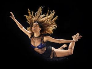 A dancer mid-air, promoting suspending disbelief