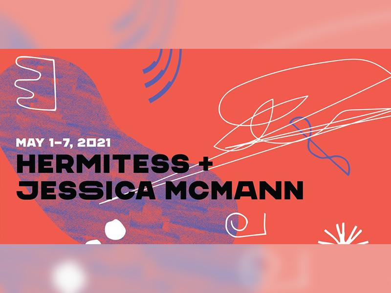 A graphic for Hermitess + Jessic McMann