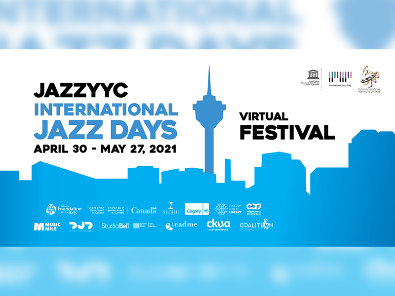 A graphic for the JazzYYC International Jazz Days