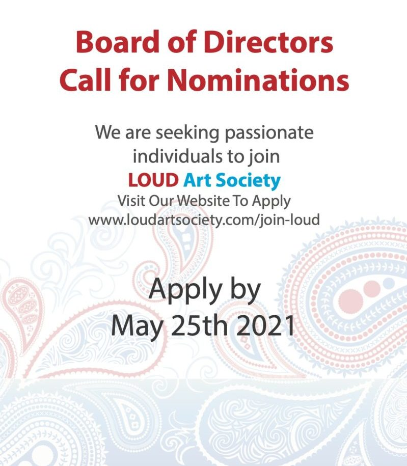We are seeking passionate individuals to join Loud Art Society. Visit our website to apply.