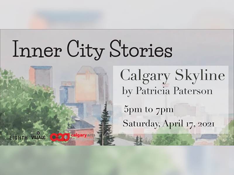 A graphic for the April 2021 edition of Inner City Stories