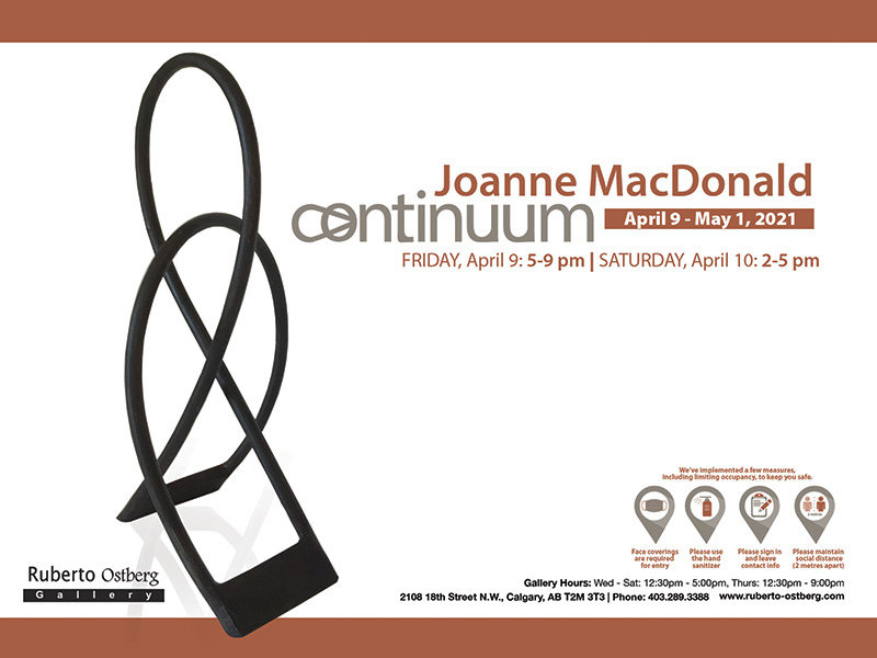 A graphic for Continuum at the Ruberto Ostberg Gallery