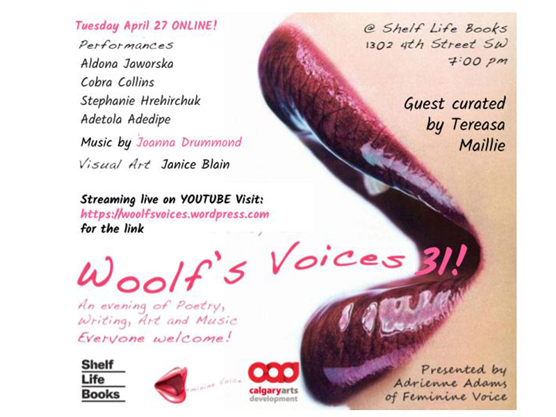 A graphic for Woolf's Voices 31