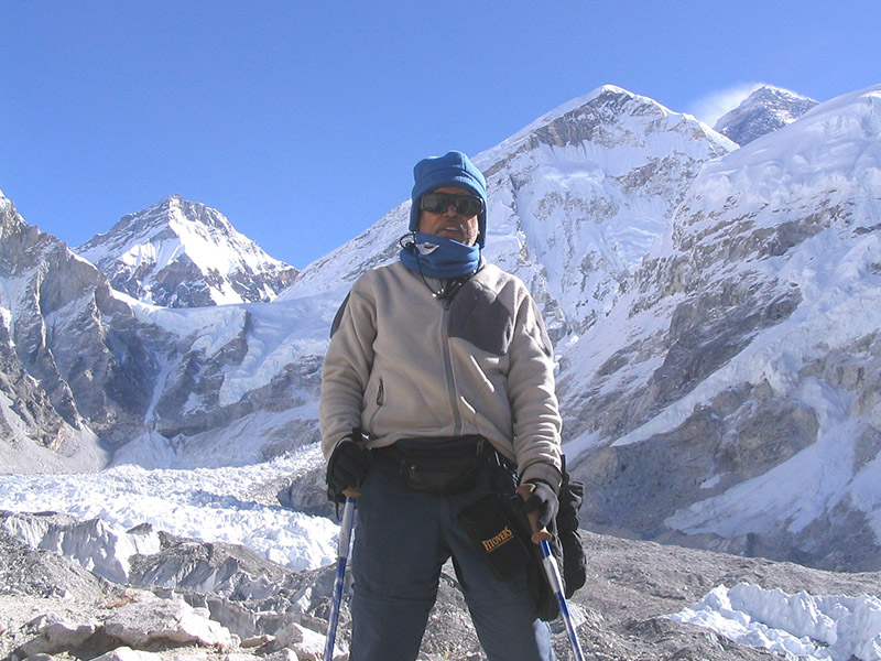 A photo of Lalit Jain at Everest Base Camp