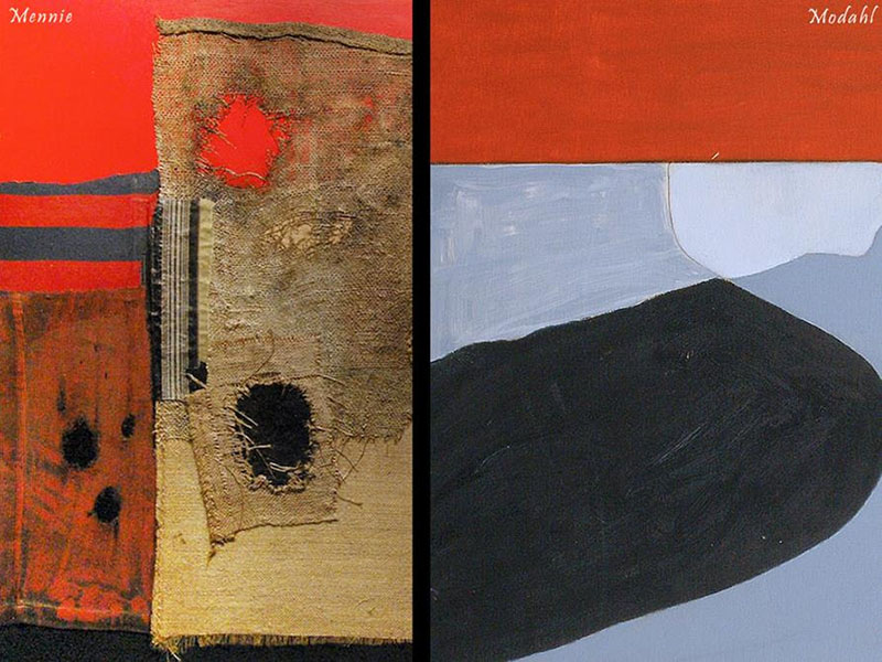 A piece from each Steve Mennie and Amy Modahl, as seen in The View from Here and There