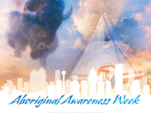 A poster for the 2021 Aboriginal Awareness Week Opening Ceremonies