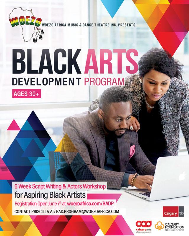 Promo graphic for Black Arts Development Program