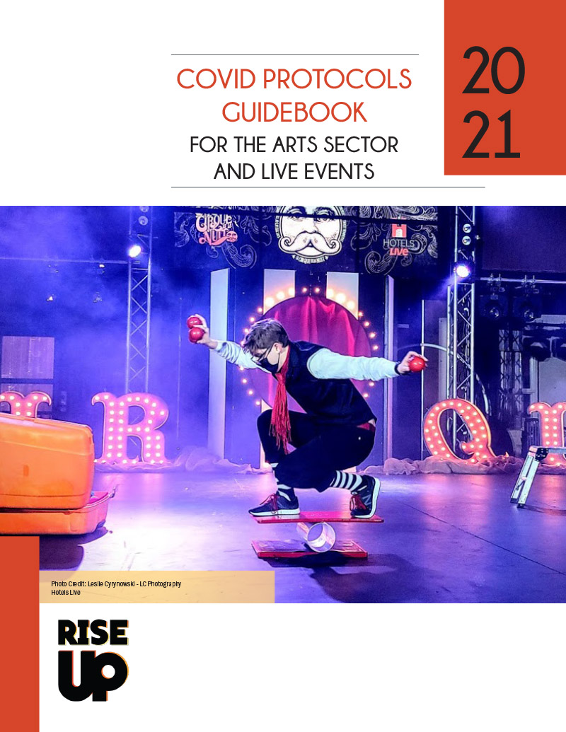 The cover of COVID Protocols Guidebook for the Arts Sector and Live Events