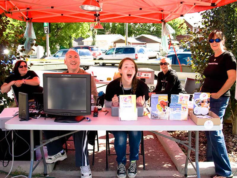 Volunteers at the Calgary Fringe Festival