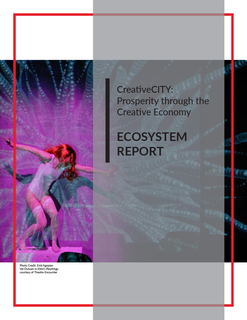 The cover of CreativeCITY: Prosperity through the Creative Economy