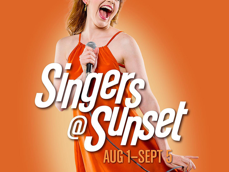 A graphic for Singers @ Sunset at StoryBook Theatre