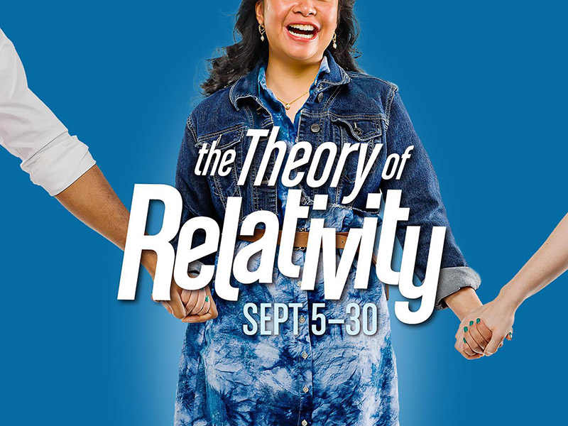 A graphic for The Theory of Relativity at StoryBook Theatre