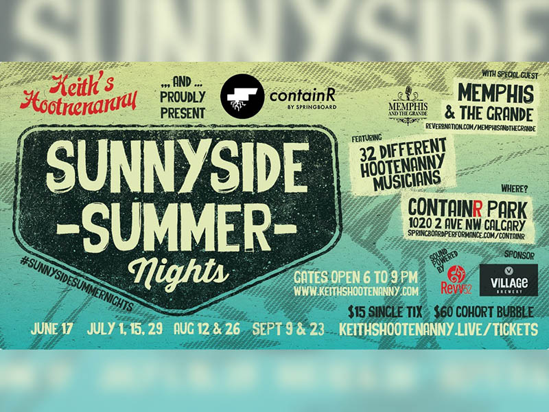 A poster for Sunnyside Summer Nights