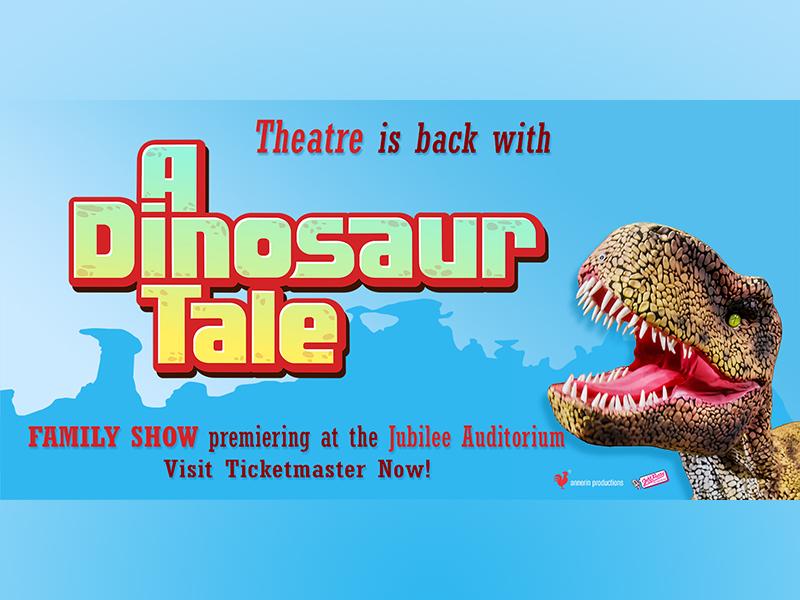 An image of a dinosaur in an ad for Dinosaur Tale