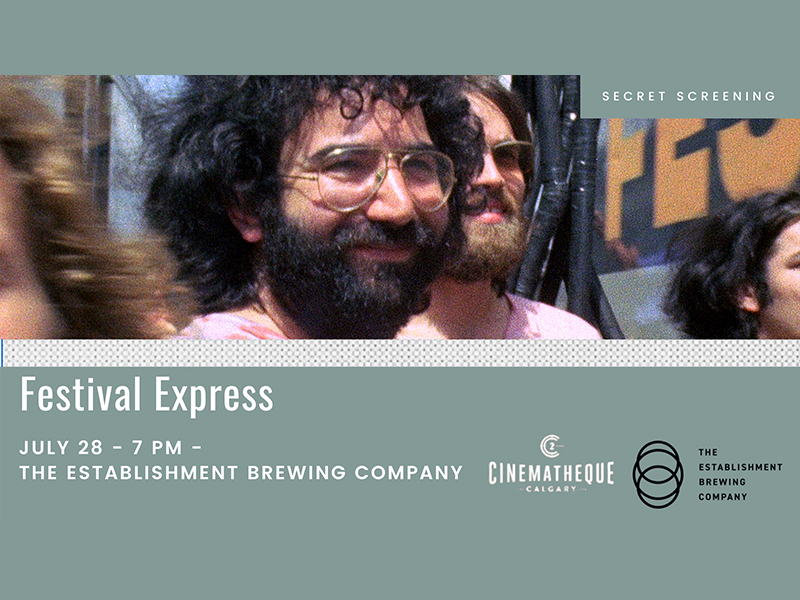 An image of an ad for Festival Express