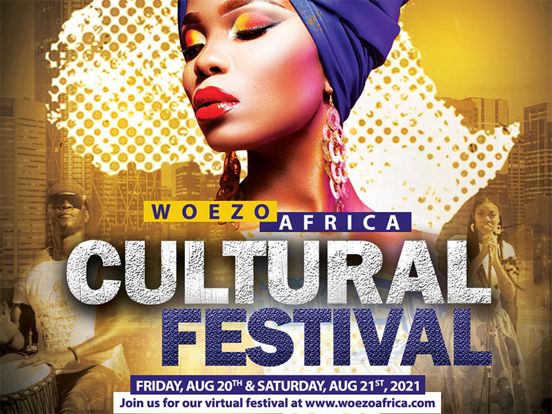 A poster for the 2021 Woezo Africa Cultural Festival