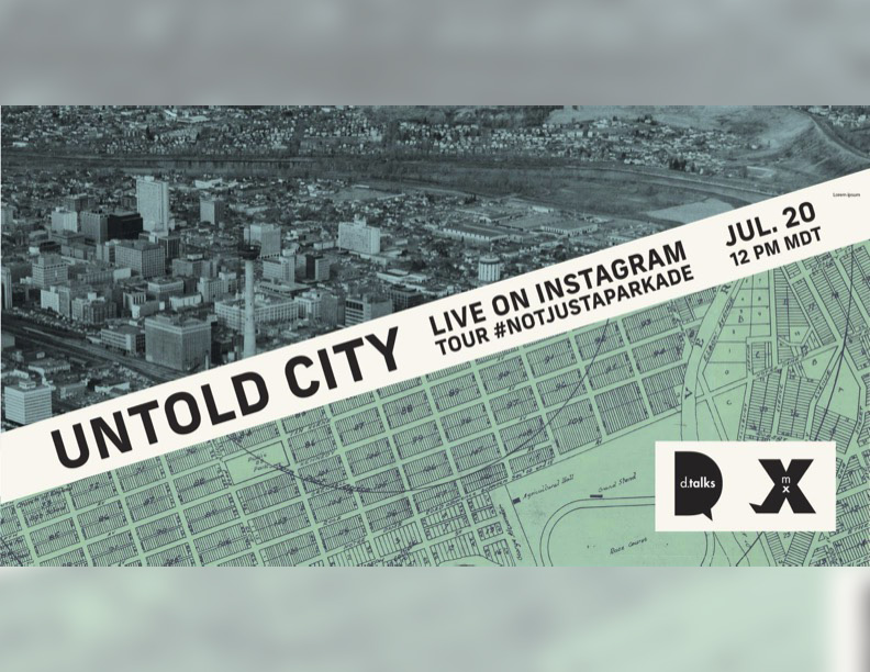 A graphic for the Untold City: Not just a parkade talk