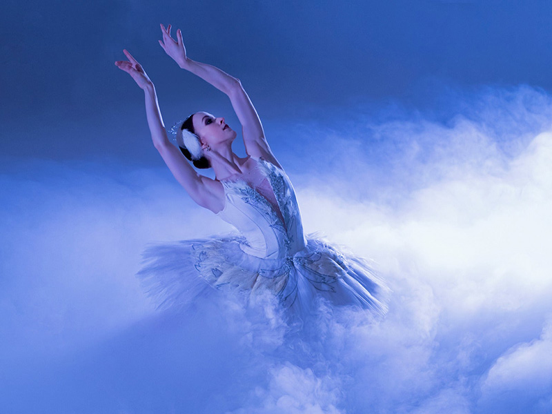 A dancer in Alberta Ballet's production of Swan Lake