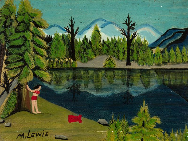 Maud Lewis's Girl by Lake