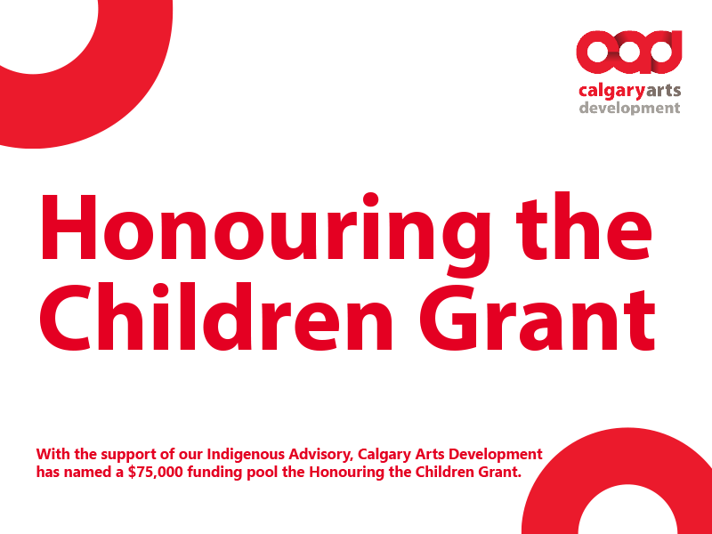 A graphic for the Honouring the Children Grant