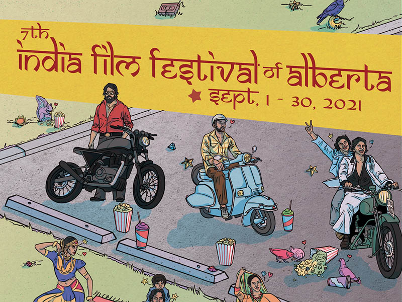 A poster for the 2021 India Film Festival of Alberta