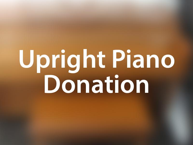 Upright Piano Donation graphic