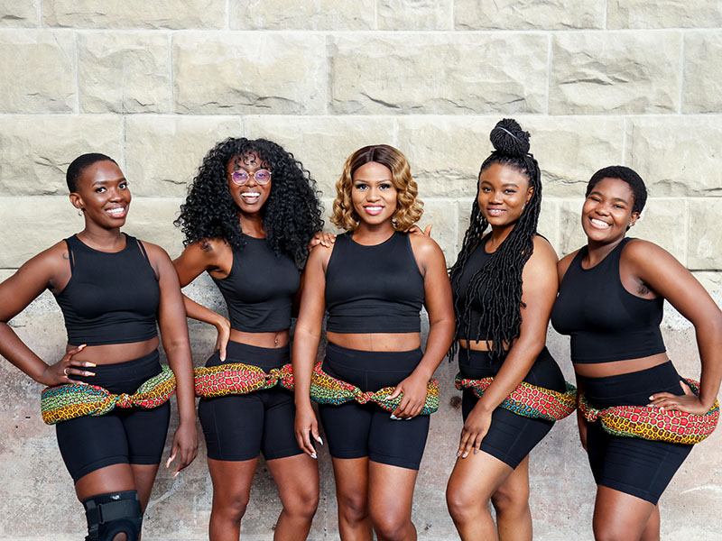 A photo of Woezo Africa Music & Dance Theatre's company of dancers