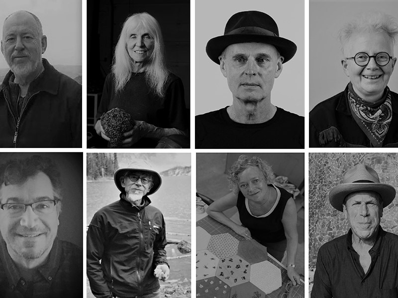 A collage of the artists in Shaping Calgary