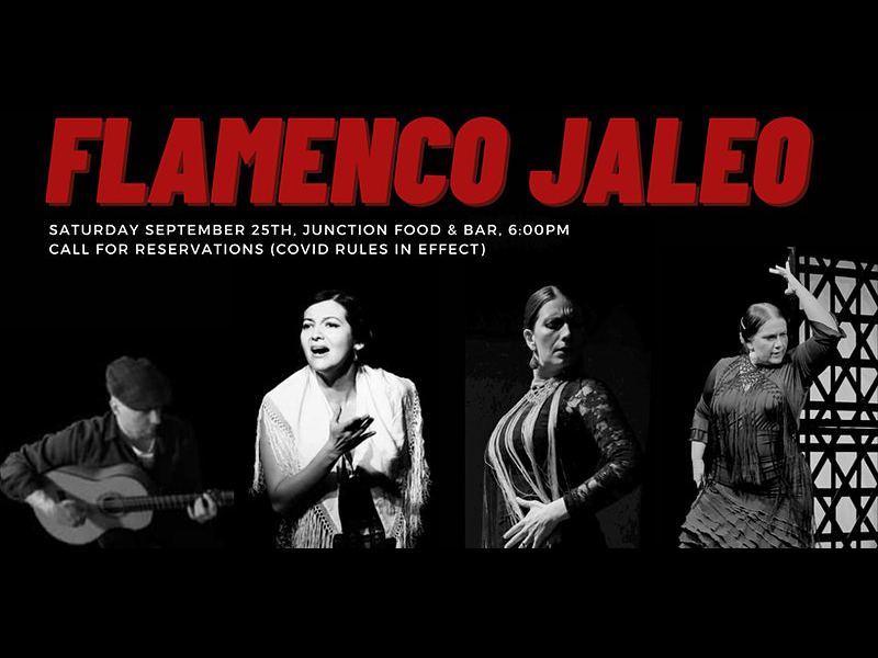 A promo graphic for Flamenco Jaleo at Junction