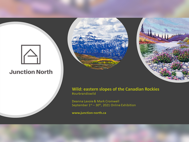 A graphic promoting the Wild: Eastern Slopes of the Canadian Rockies exhibition