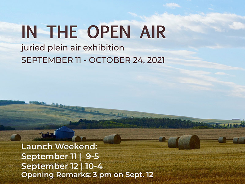 A graphic for In The Open Air Juried Plein Air Exhibition