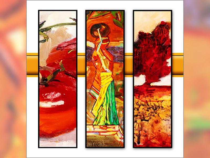 A postcard for the Palette Fine Art Show & Sale