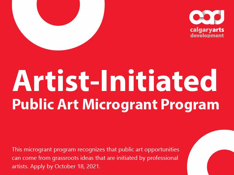 Artist-Initiated Public Art Microgrant Program graphic