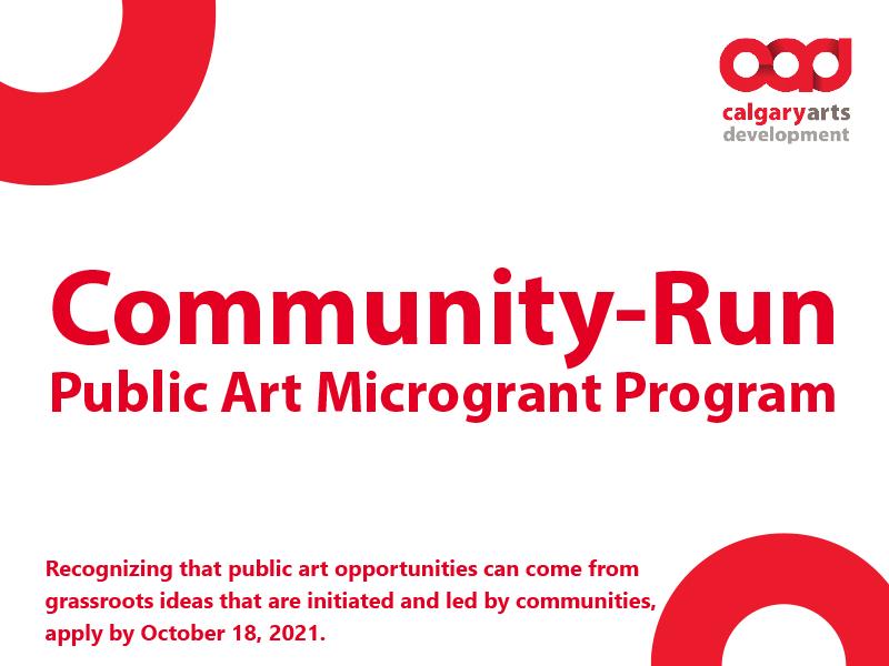 Community-Run Public Art Microgrant Program graphic
