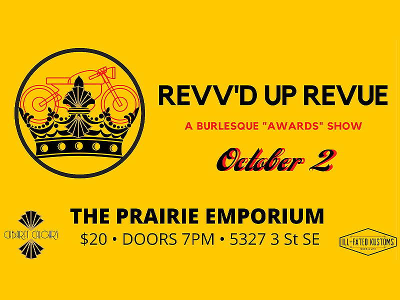 An image of an ad for Revv'd Up Revue