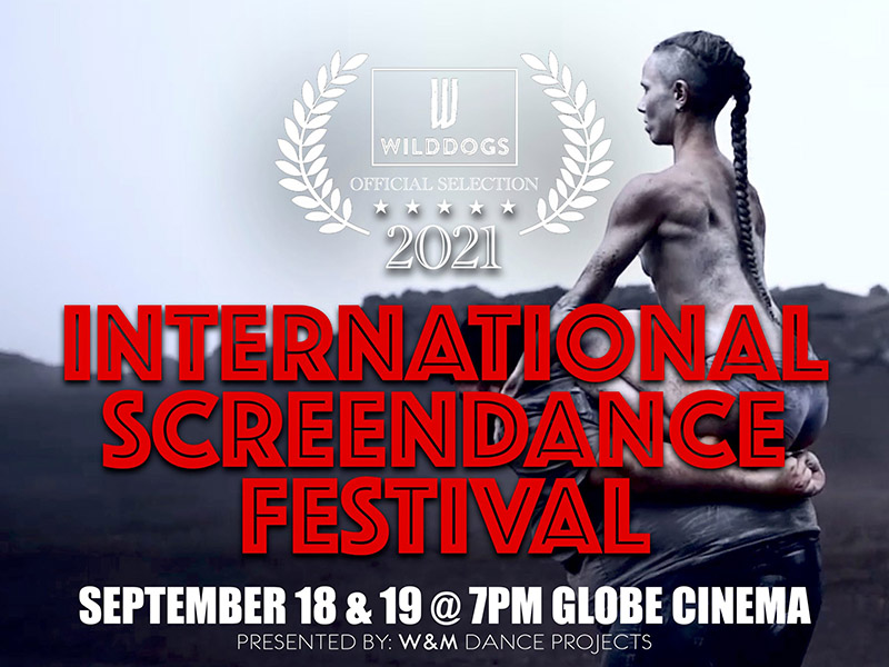 A graphic for the 2021 WildDogs International Screendance Festival